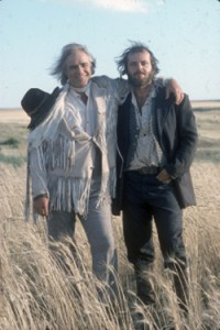 Jack Nicholson with Marlon Brando in The Missouri Breaks.