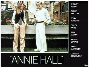 "Diane Keaton and Woody Allen in ""Annie Hall""."