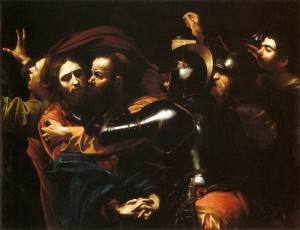 "Caravaggio's ""The Taking Of Christ""."