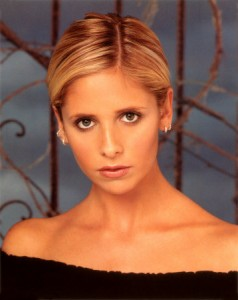 Sarah Michelle Gellar as Buffy.