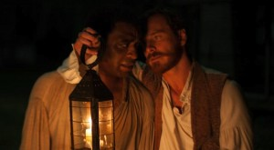 Fassbinder and Ejiofor in 12 Years A Slave.