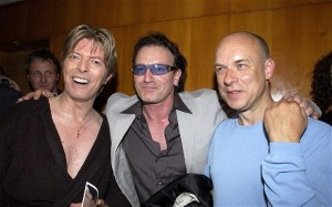 Bowie, Bono and Eno in '02.