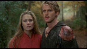 Robin Wright as Buttercup with Cary Elwes in The Princess Bride.
