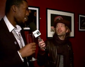 Flylo gets grilled by Thom Yorke.