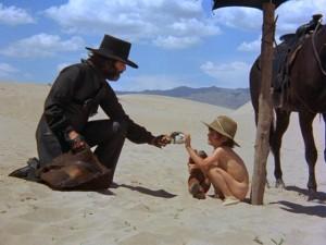 Jodorowsky with his son Brontis in El Topo.